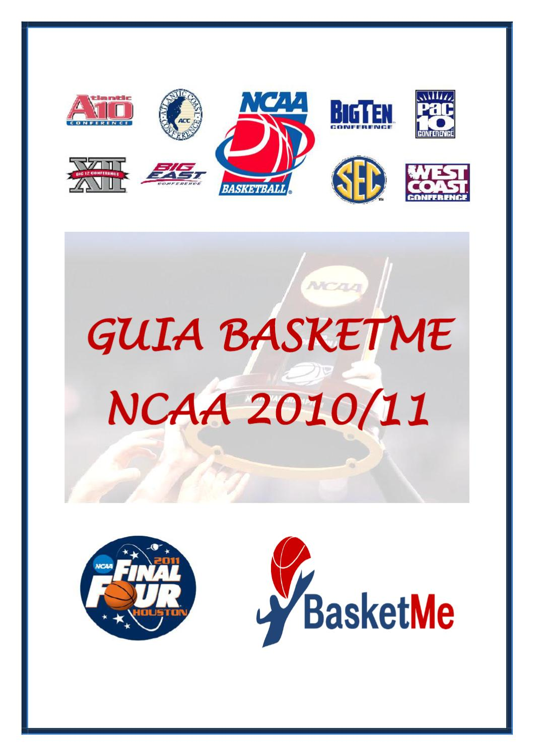 Guía BasketMe NCAA 2010-11 by Xavier Garcia i Sunyer - issuu