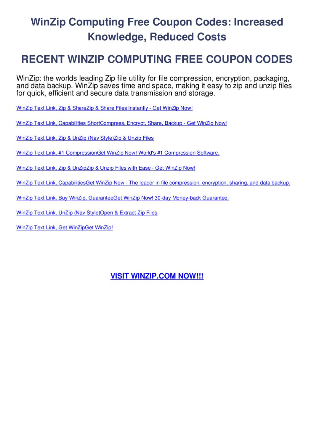 get winzip for free