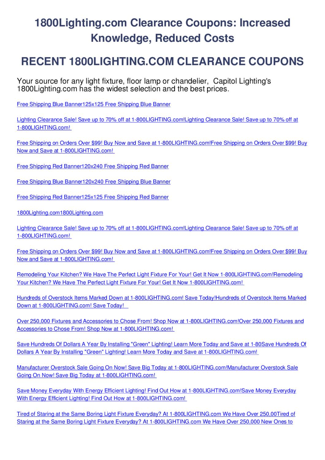 1800lighting Clearance Coupons By Codes Issuu