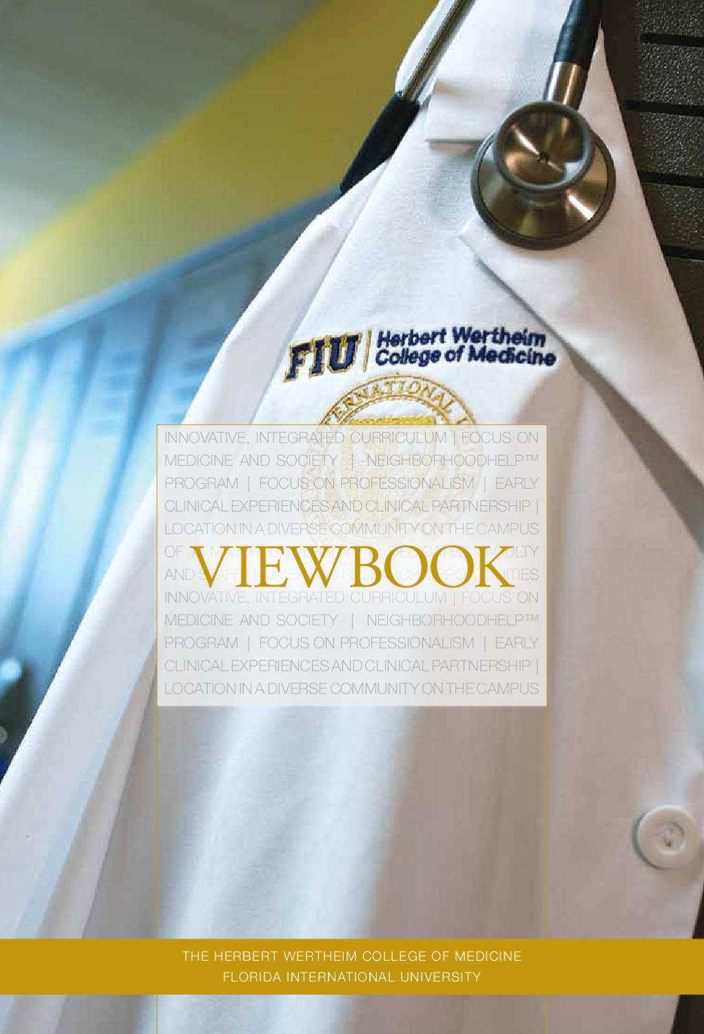 Herbert Wertheim College of Medicine Viewbook by FIU - issuu