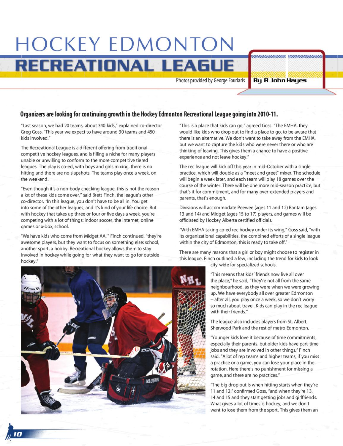Hockey Magazine Edmonton By Suggitt Publishers Issuu