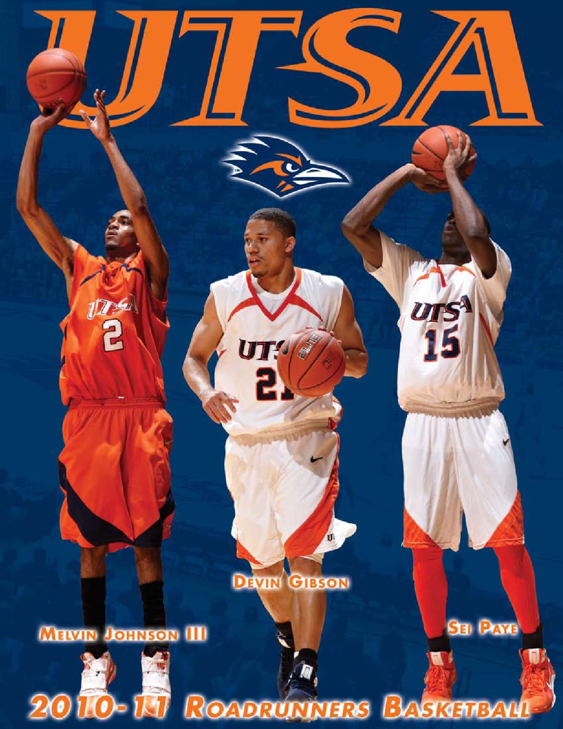 0f1307a343e6 2010-11 UTSA Men s Basketball Media Guide by UTSA Athletics Communications  - issuu