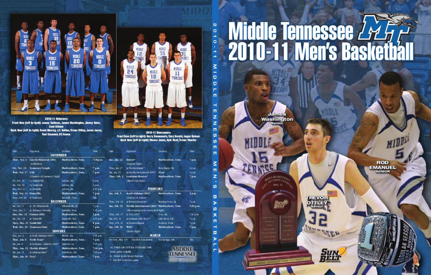 huge discount dbbfc edc9a 2010-11 Middle Tennessee Men s Basketball Information Guide by Middle  Tennessee State University - issuu