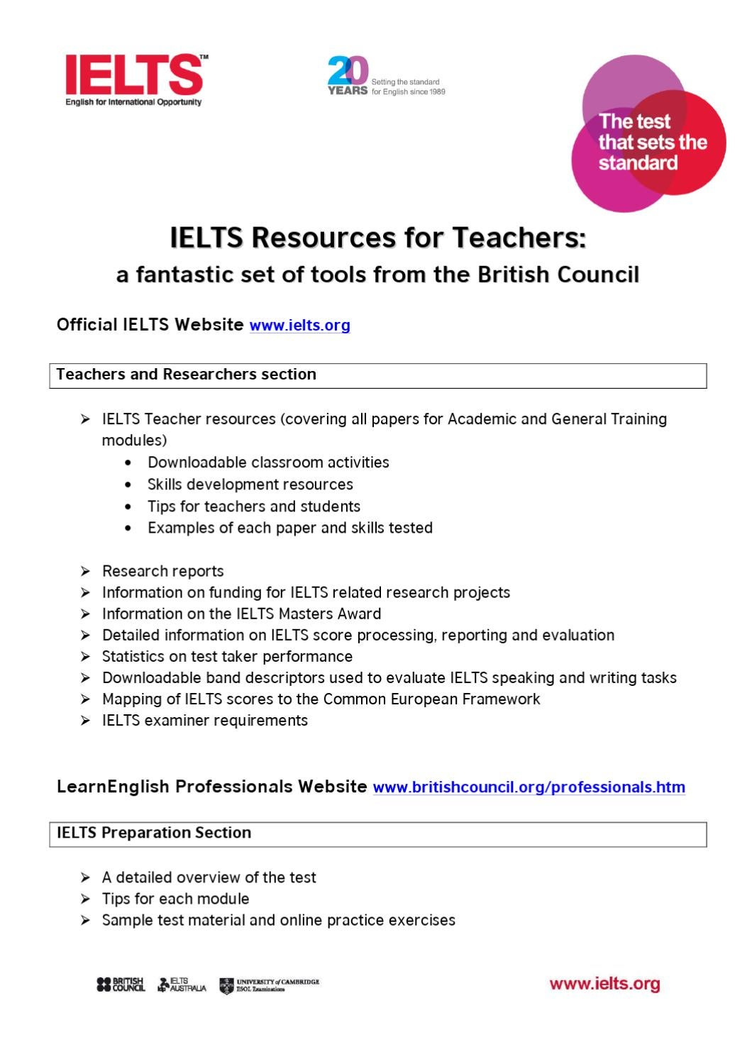 IELTS Resources for Teachers by British Council - issuu