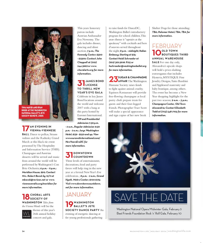 Washington Life Magazine - Holiday 2006 by Washington Life