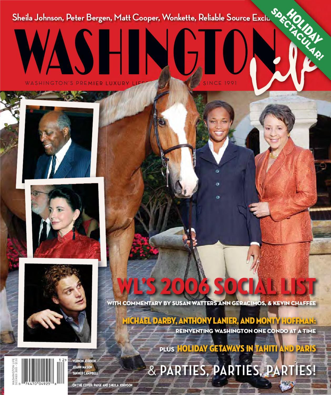 washington life magazine holiday 2005 by washington life