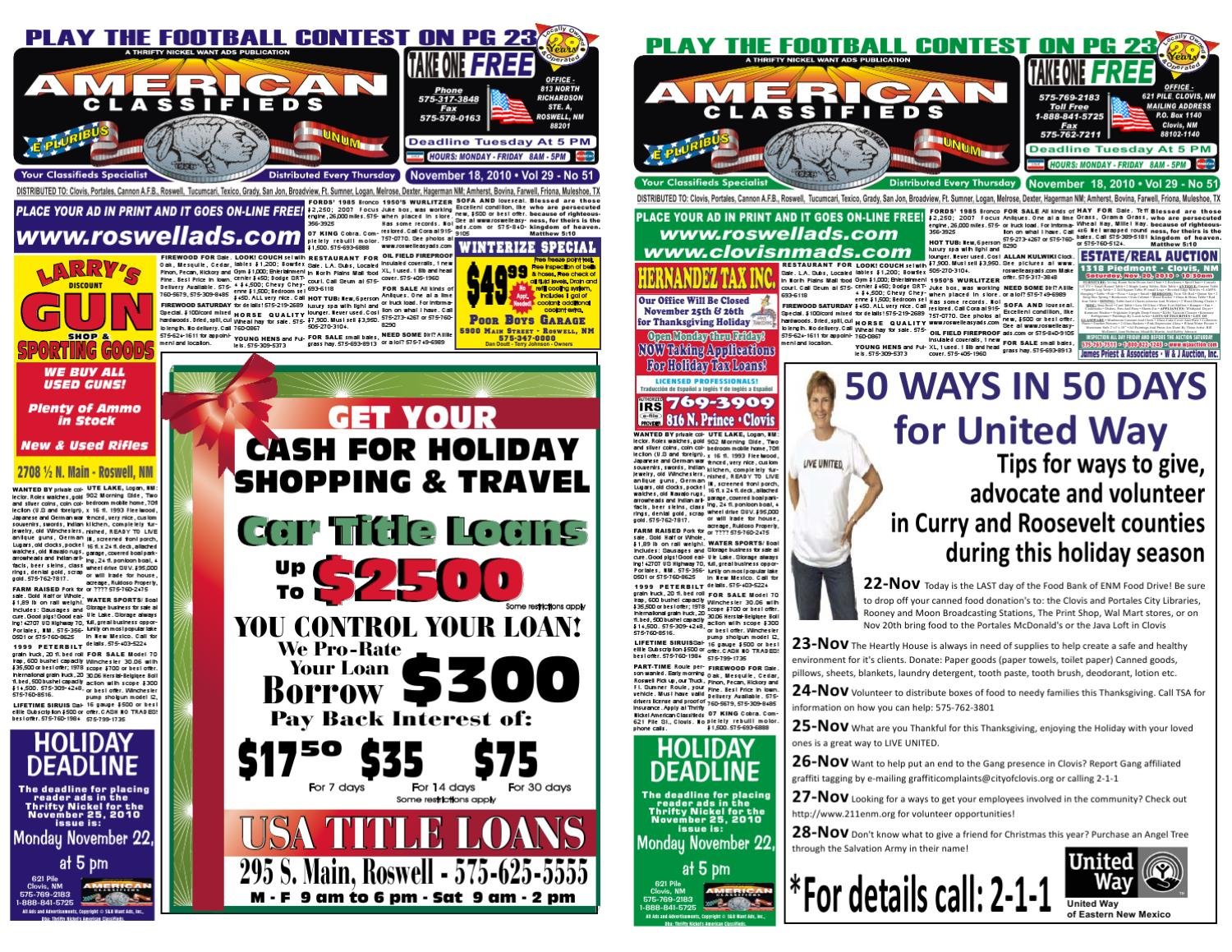 American Classifieds/Thrifty Nickel Roswell/Clovis by EZAds of USA