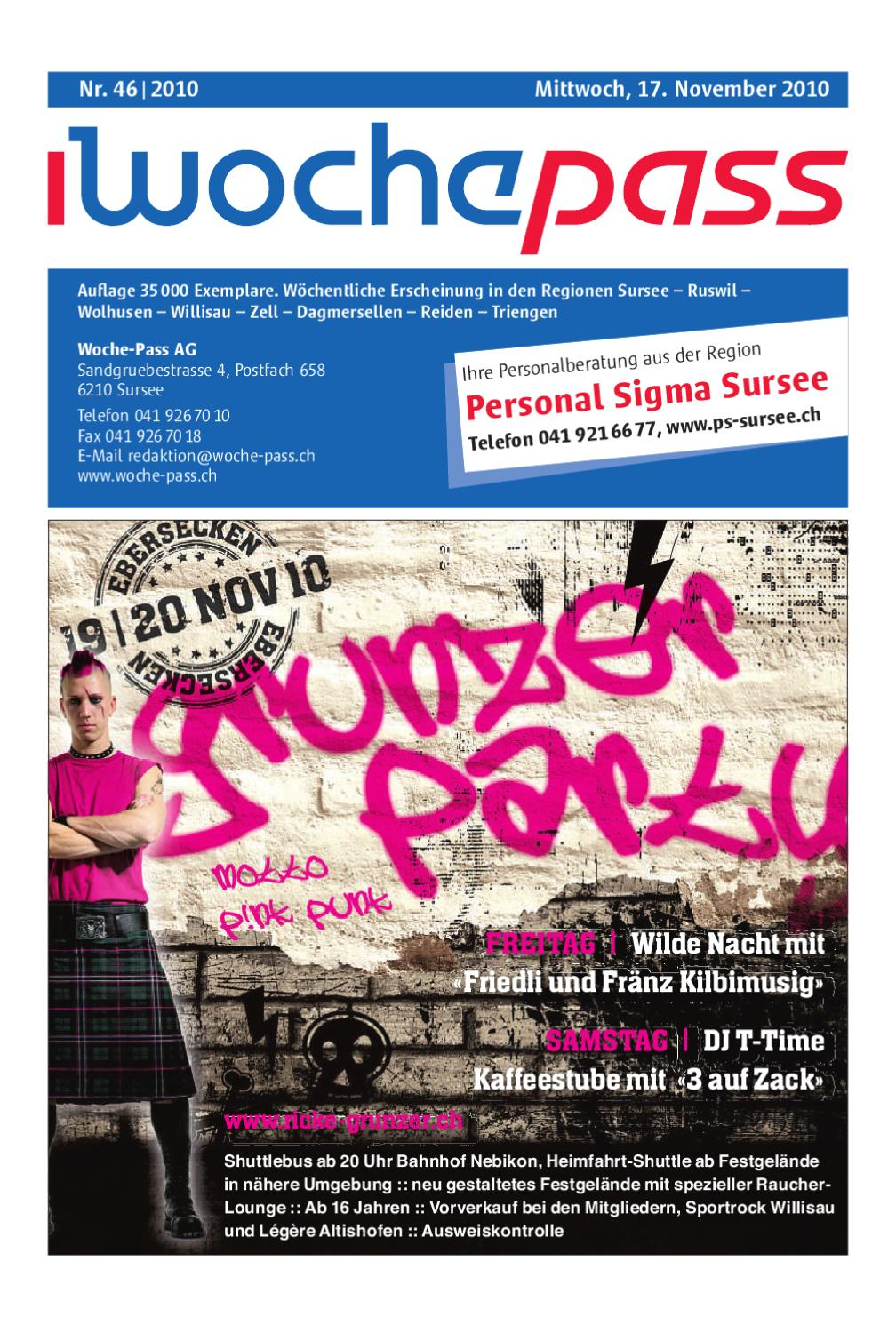 Woche-Pass | KW 16 | 20. April 2011 by Woche-Pass AG - issuu