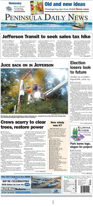 PDN 11/17/2010 J by Peninsula Daily News & Sequim Gazette