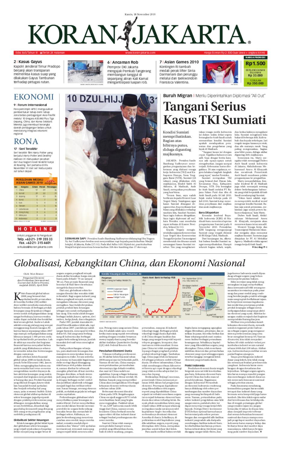 EDISI 865 - 18 NOVEMBER 2010 by PT. Berita Nusantara - issuu 57f90904d4d