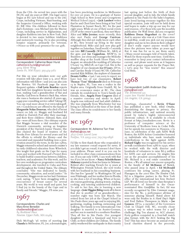 boston college magazine fall 2010 issue by boston college