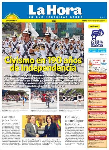 d4f950090 Diario La Hora Loja 18 de Nov de 2010 by Diario La Hora Ecuador - issuu