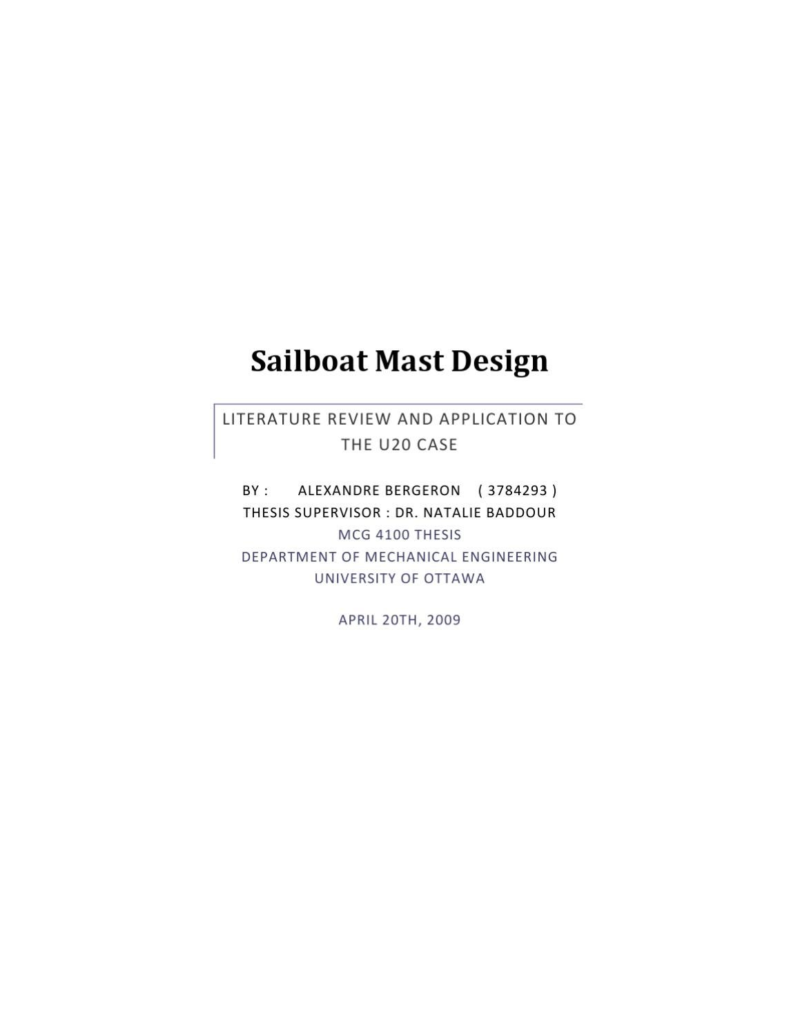 Analysis Of Sailboat Mast Design By Natalie Baddour Issuu Wiring Diagram