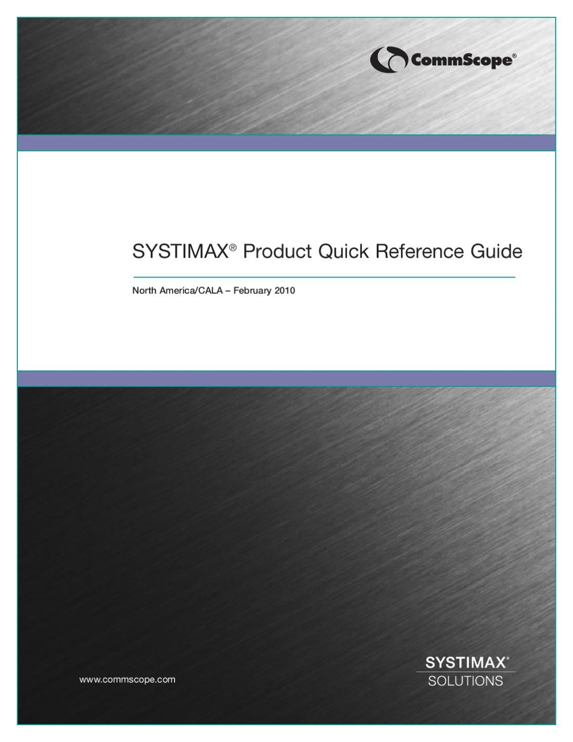 Systimax Product Quick Reference Guide By Accu Tech Issuu Wiring Block
