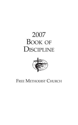 United methodist of church 2008 of book the discipline