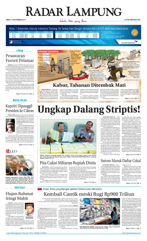 Radar Lampung Jumat 19 November 2010 By Ayep Kancee Issuu Produk Umkm Bumn Bolu Gulung Hj Enong