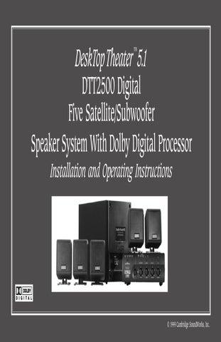 desktop theater 5 1 dtt2500 digital manual by eric issuu rh issuu com Cambridge SoundWorks Radio with CD Cambridge SoundWorks S300