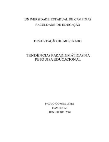 TENDENCIAS PARADIGMÁTICAS NA PESQUISA EDUCACIONAL by PAULO GOMES ... d63df75075