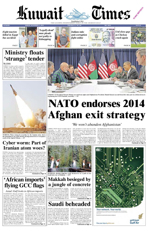 21 Nov By Kuwait Times Issuu