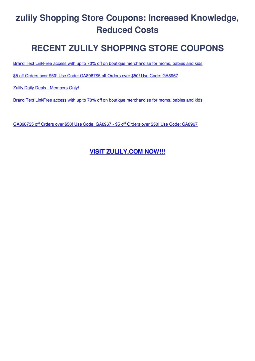 861a03a3399 Zulily shopping store coupons by Coupon Codes - issuu