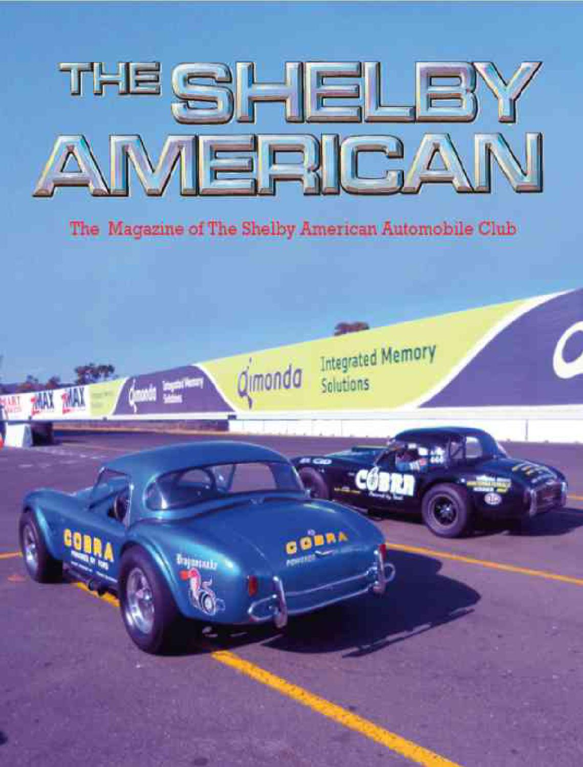 Shelby American Summer 2010 By Ron Richards Issuu Fuse Box Cover