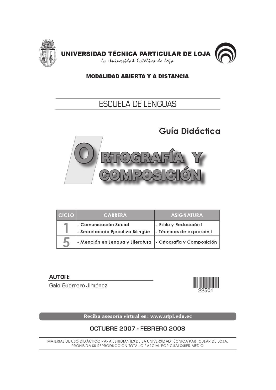 manual de ortografia y redaccion de la UTPL by Javier Oquendo - issuu