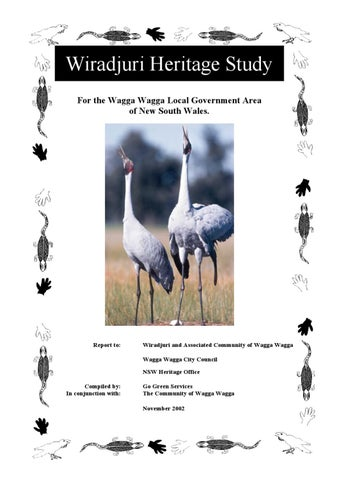 Wiradjuri Heritage Study by Wagga Wagga City Council - issuu