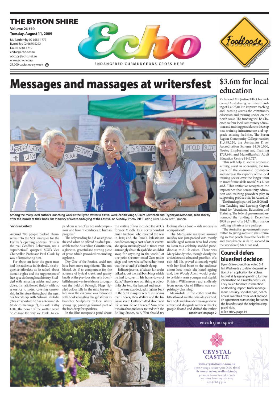Byron Shire Echo – Issue 24.10 – 11 08 2009 by Echo Publications - issuu 8e84b34c63