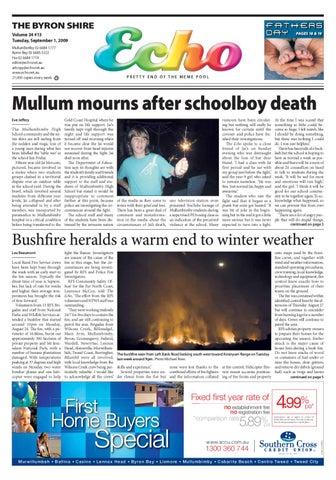 byron shire echo \u2013 issue 24 10 \u2013 11 08 2009 by echo publications issuu