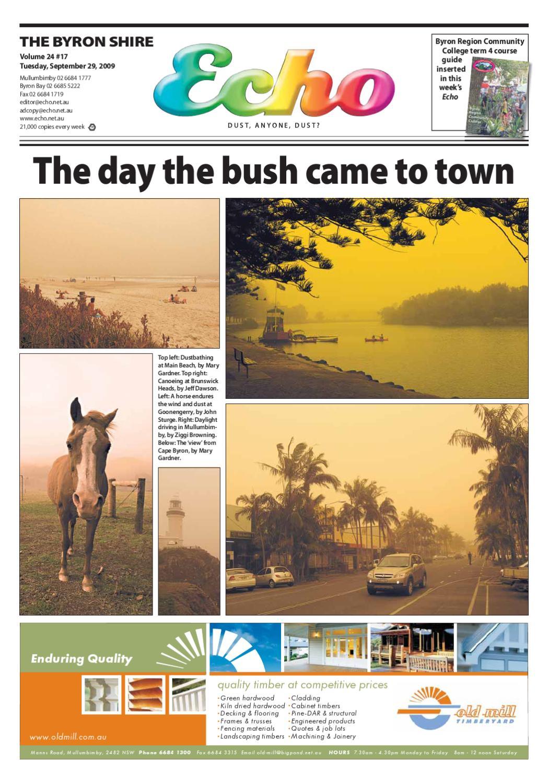 Byron Shire Echo – Issue 24.17 – 29 09 2009 by Echo Publications - issuu d8cbb79c01b2c