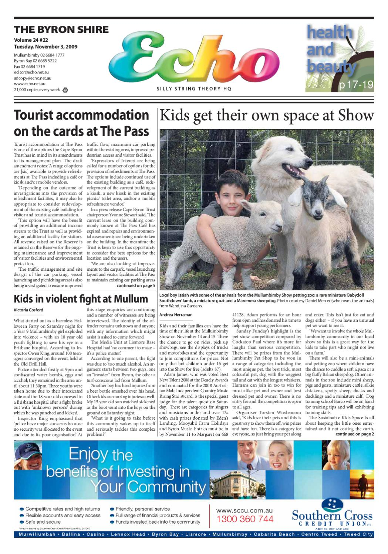 Byron Shire Echo Issue 2422 03112009 By Echo