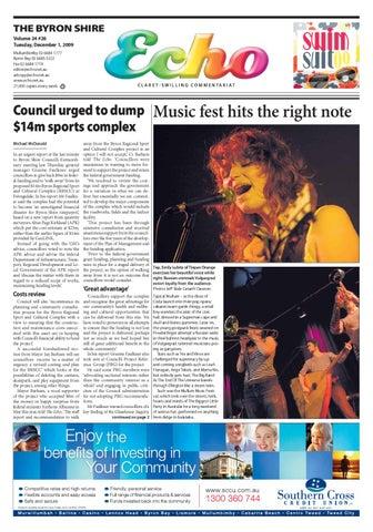 Byron Shire Echo Issue 2426 01122009 By Echo