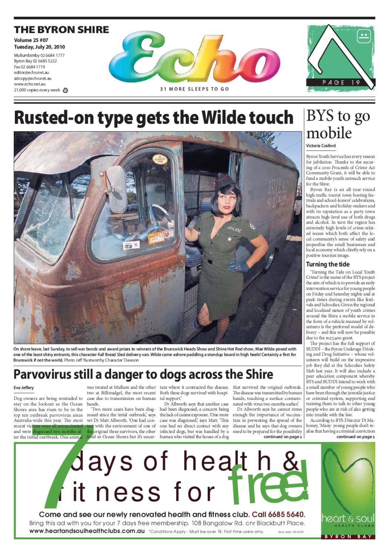 Byron Shire Echo – Issue 25 07 – 20/07/2010 by Echo Publications - issuu