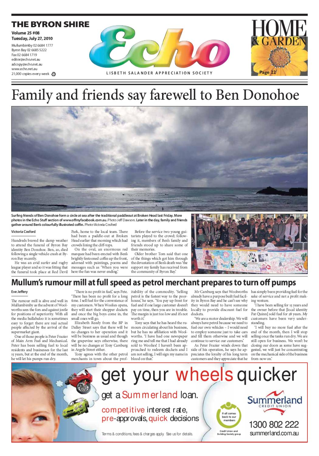 Byron Shire Echo Issue 2508 27 07 2010 By Publications Issuu Electric Blanket Cycle Timer Circuit Free Electronic Circuits 8085