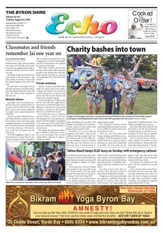 28bad28463 Byron Shire Echo – Issue 25.13 – 31 08 2010 by Echo Publications - issuu
