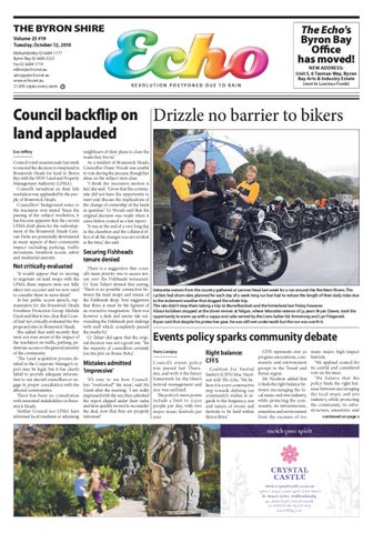 bb41692a7538 Byron Shire Echo – Issue 25.27 – 07 12 2010 by Echo Publications - issuu