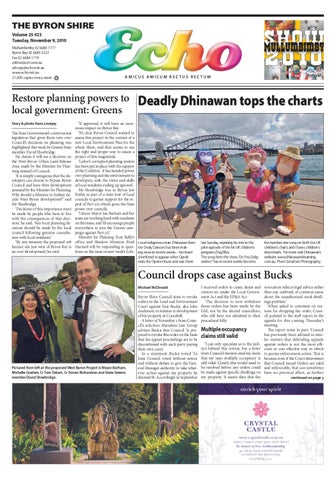 d7bc83a83f Byron Shire Echo – Issue 25.23 – 08 11 2010 by Echo Publications - issuu