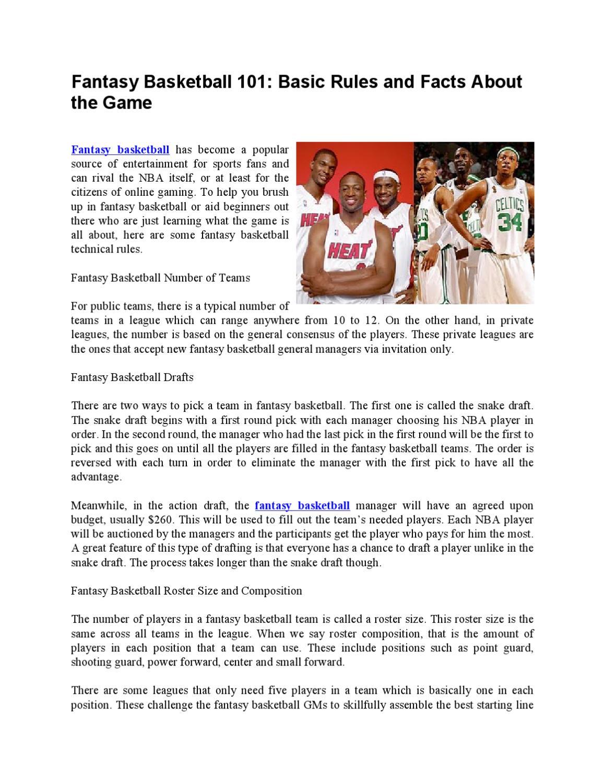 basic rules of basketball pdf