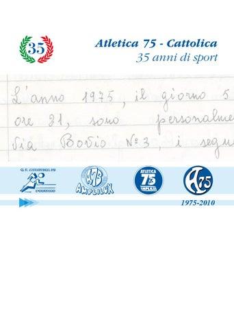 Balducci Materassi San Giovanni In Marignano.Atletica 75 Cattolica 35 Anni Di Sport By Michele Balducci Issuu