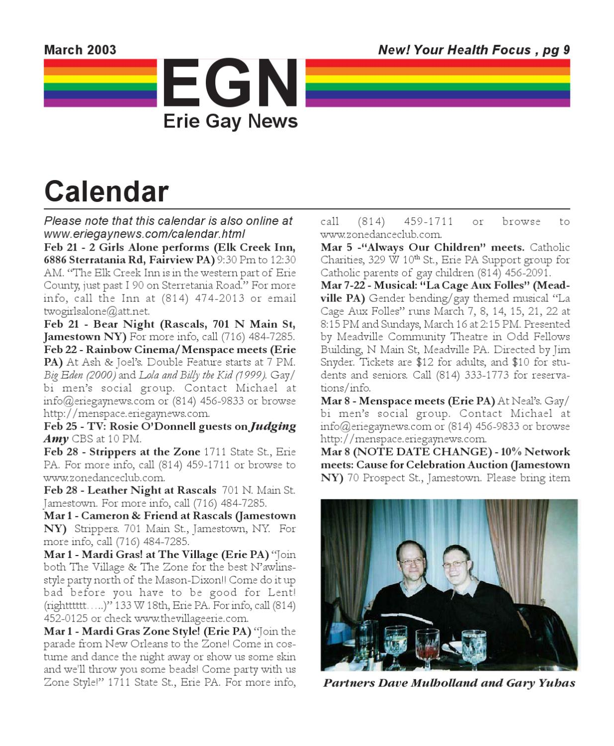 EGN200303 By Erie Gay News