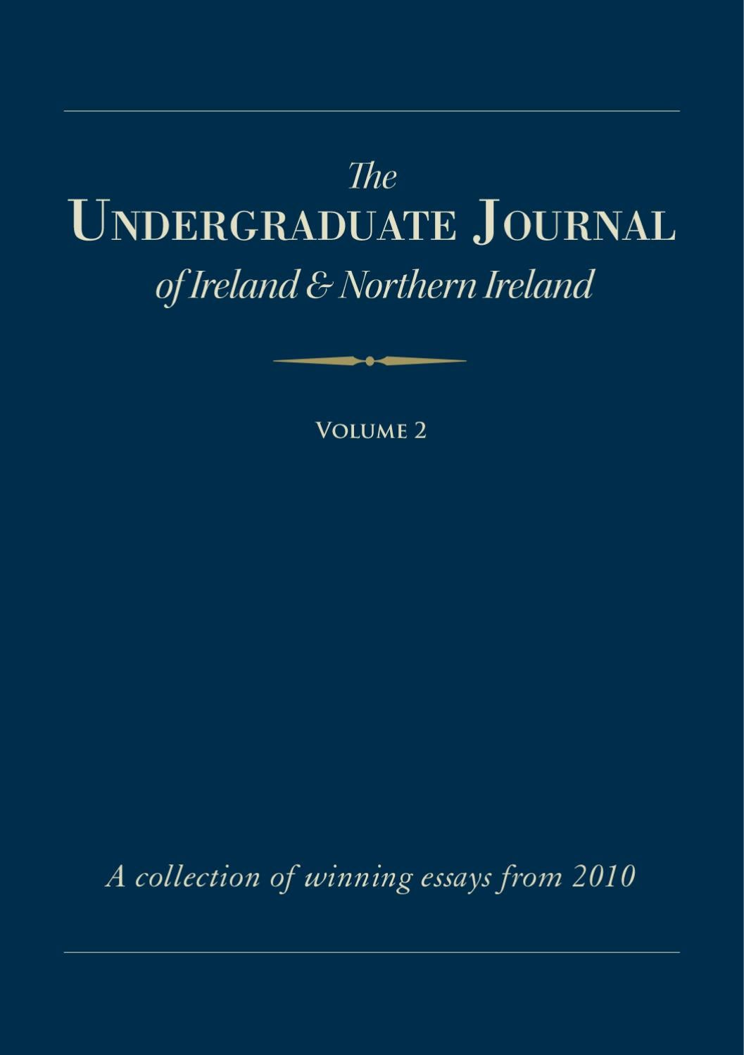 The Undegraduate Journal By Gearoid O Rourke Issuu