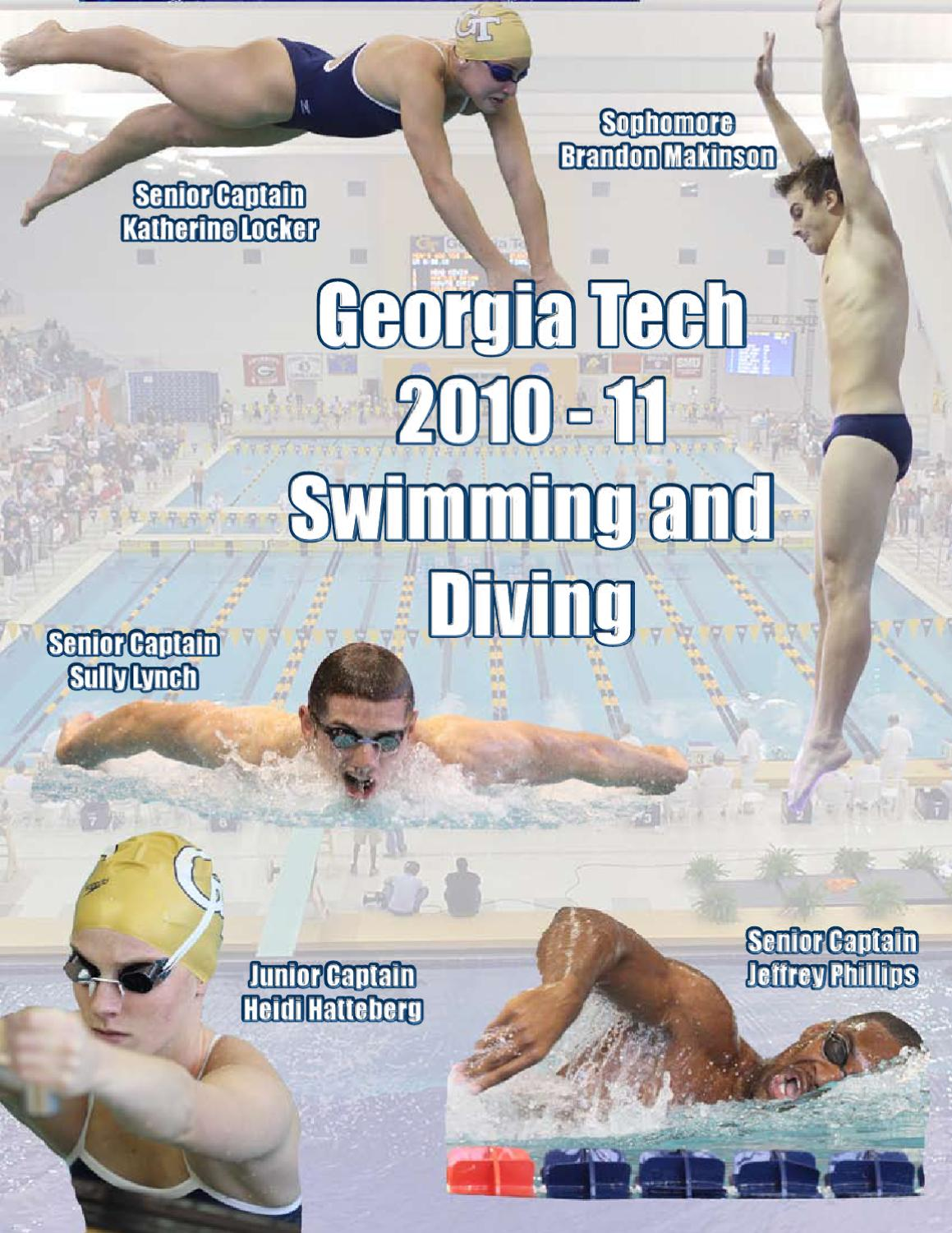 promo code 8a9ad eb71a 2010-11 Georgia Tech Swimming   Diving Information Guide by GTAthletics -  issuu