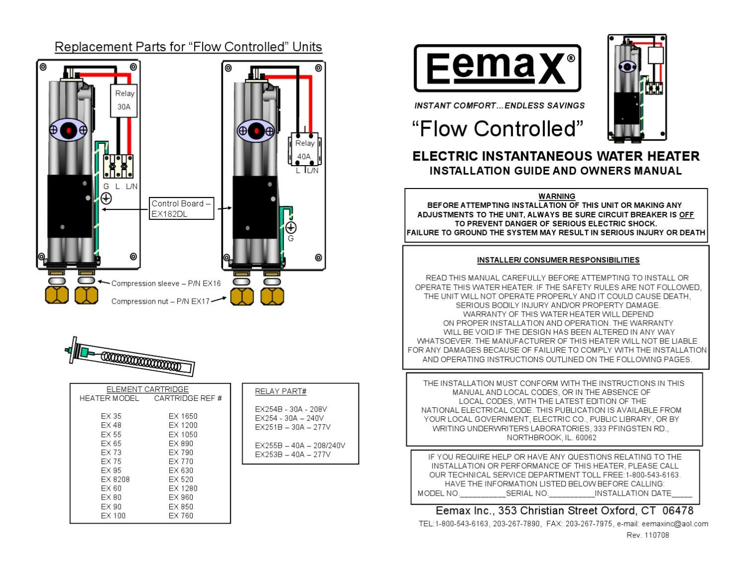 Eternal Tankless Water Heater Manual Instant Wiring Diagram