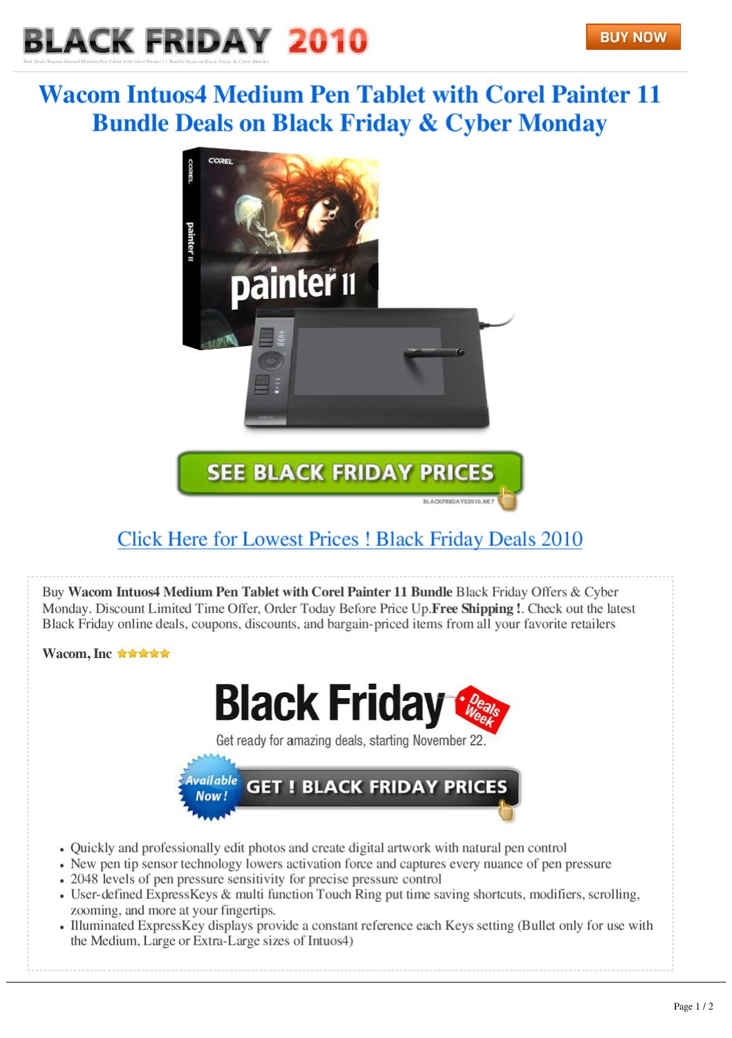 Black Friday Wacom Intuos4 Medium Pen Tablet With Corel Painter 11 Bundle Deals On Black Friday C By Steven Common Issuu