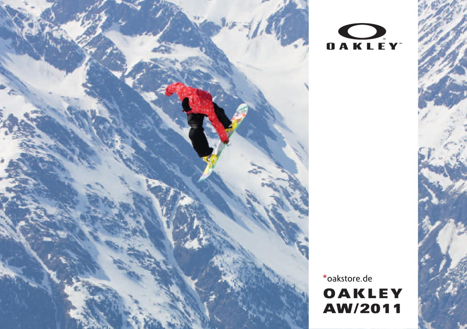 oakley winter  Oakley Catalog Winter 2010 - 2011 presented by Oakstore.de by 4ego ...