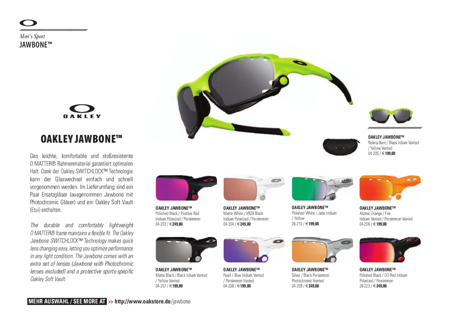 98a5d50662 Oakley Catalog Winter 2010 - 2011 presented by Oakstore.de by 4ego  Lifestyle GmbH - issuu