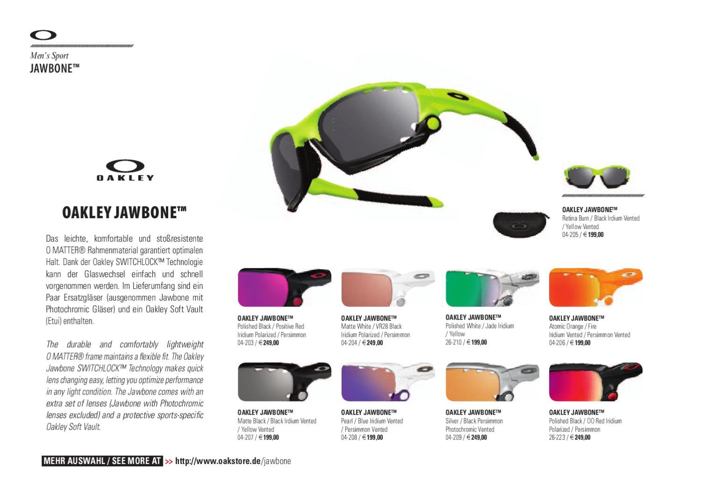 Oakley Catalog Winter 2010 - 2011 presented by Oakstore.de by 4ego  Lifestyle GmbH - issuu 39f0dd33095b