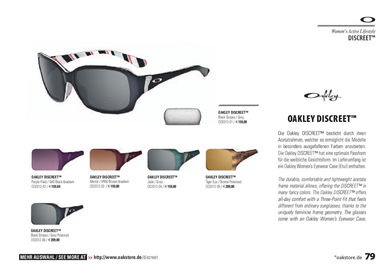 d013ed28fe891 Oakley Catalog Winter 2010 - 2011 presented by Oakstore.de by 4ego  Lifestyle GmbH - issuu