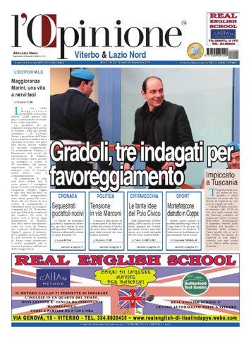 Opinione Viterbo - 25 Novembre 2010 by Nuovo Viterbo Oggi - issuu 829e1d6486ec