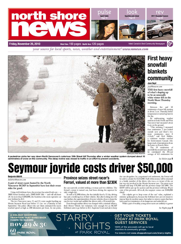 b0e549b5013b North Shore News November 26 2010 by Postmedia Community Publishing ...